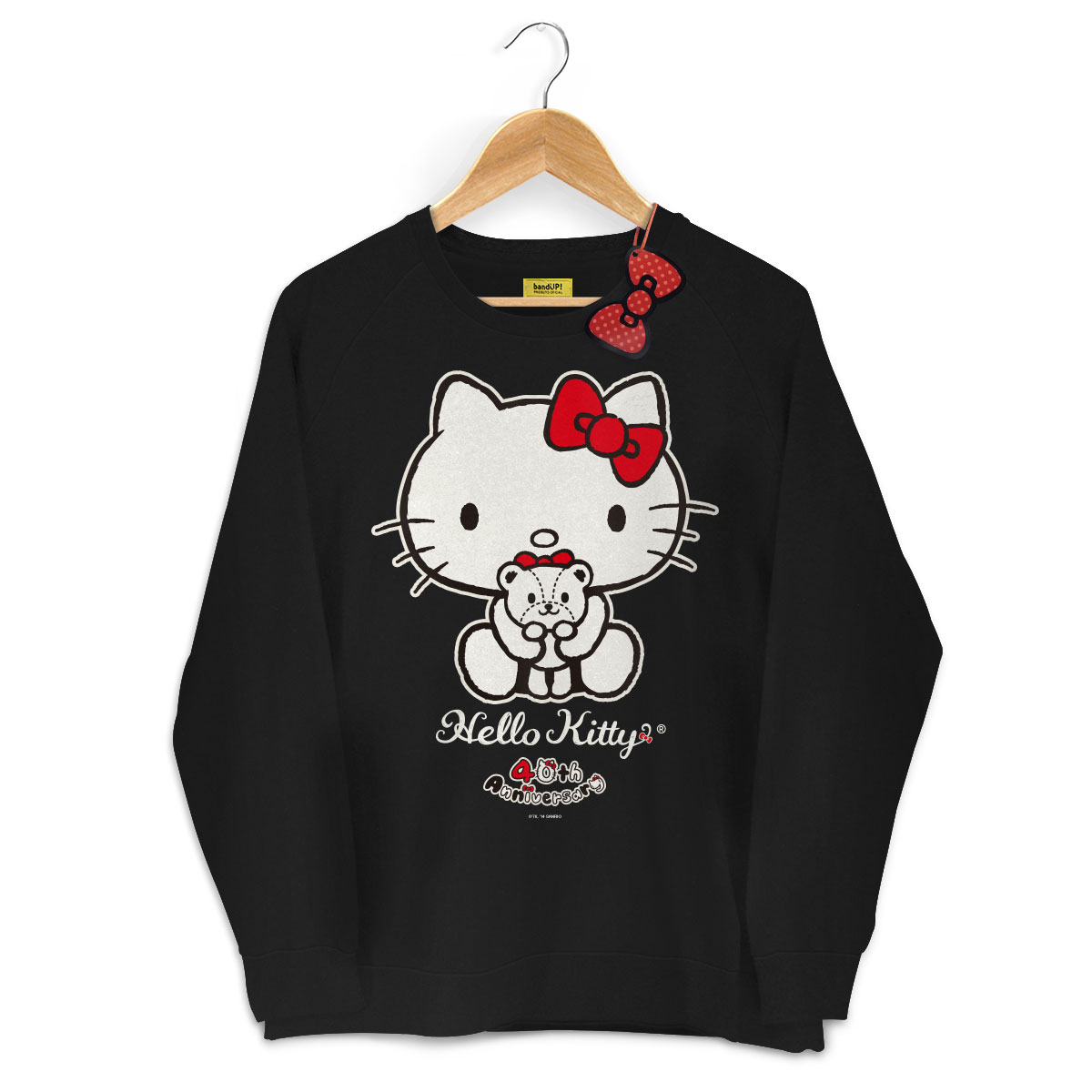 Moletinho Preto Hello Kitty 40th Ribbon 3