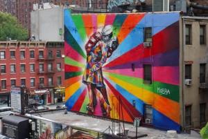 """""""O Beijo"""", na Hagh Line, em Nova York"""
