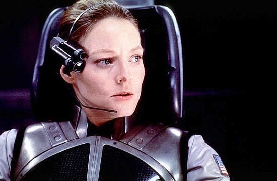Jodie Foster em cena do filme Contato