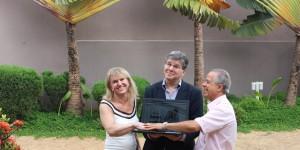 boa foto de Gontow com o casal formado em Piracicaba