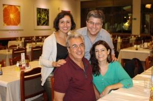 Maria e Airton Gontow com Hélio Faria e Vera Garcia