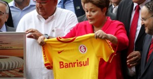 A colorada Dilma Rousseff